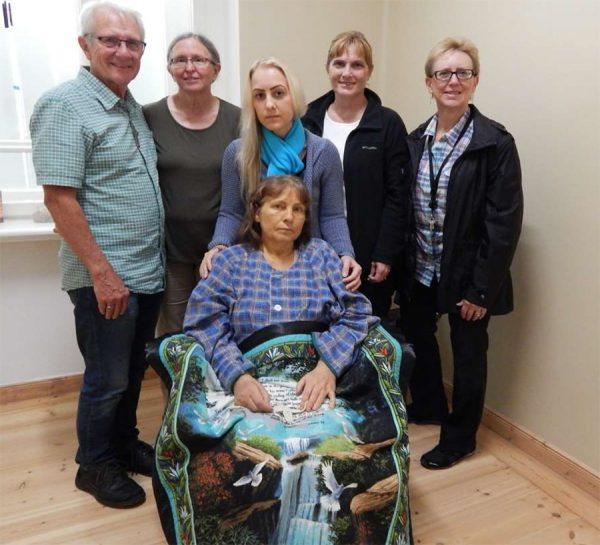Ill woman in care center