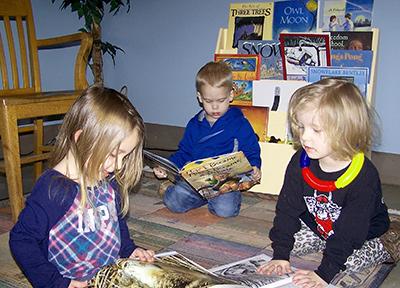 Children reading